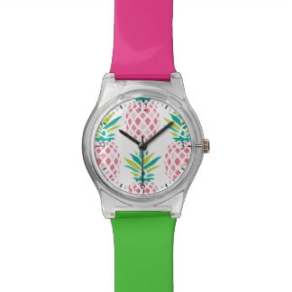 Pink Pineapples Pattern Watch