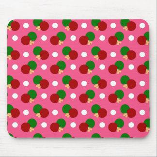Pink ping pong pattern mousepad