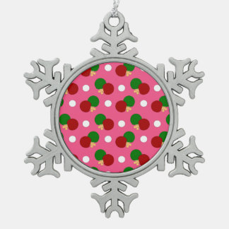 Pink ping pong pattern ornaments