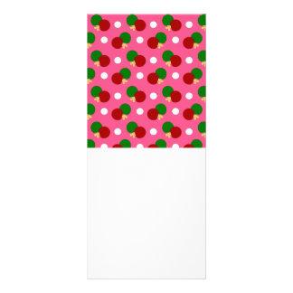 Pink ping pong pattern rack card template