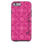 Pink & Pink Floral Damasks & Geometric Shapes