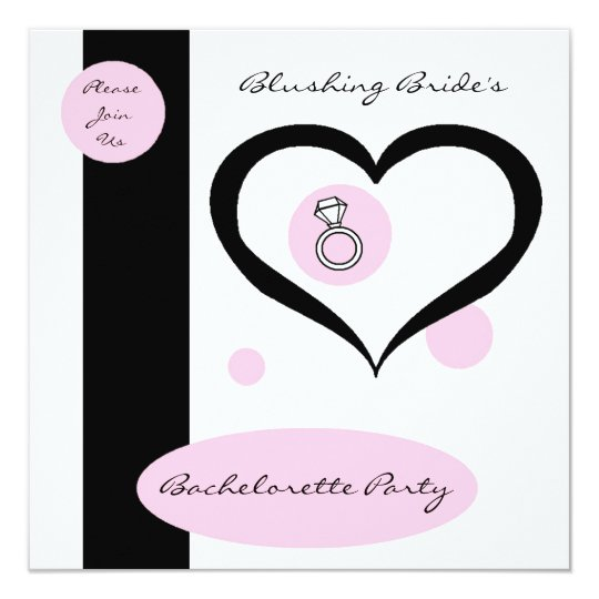 Pink Pinstripe Bachelorette Party Card