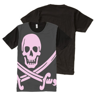 Pink Pirate All-Over Print T-Shirt