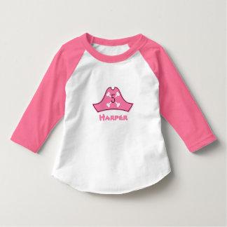 Pink Pirate Birthday Shirt