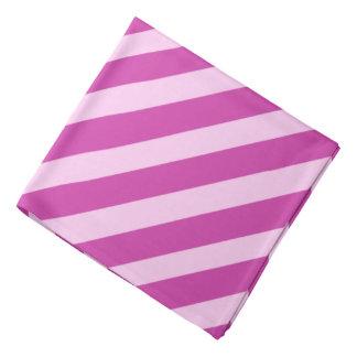 Pink Pirate Stripes Bandana