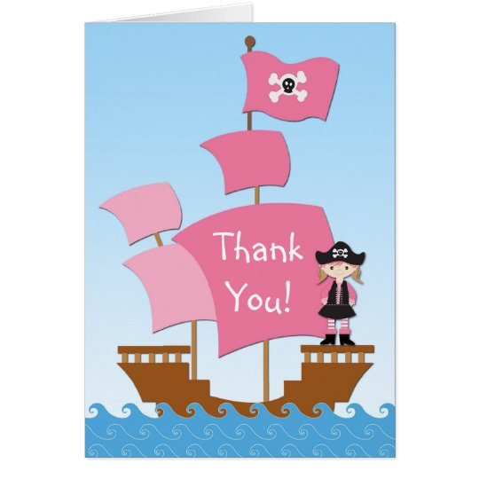 Pink PirateThank You Card