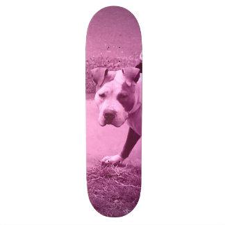 Pink Pit Bull Skateboard
