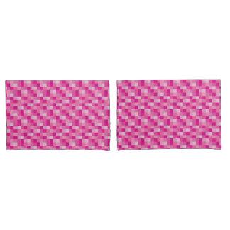 Pink Pixelated   Gamer   Pink Pixels Pillowcase