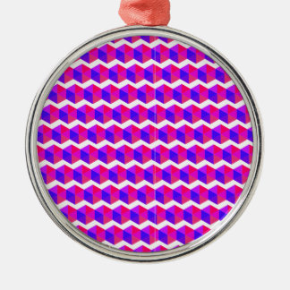 Pink Pixels Pattern Christmas Ornament