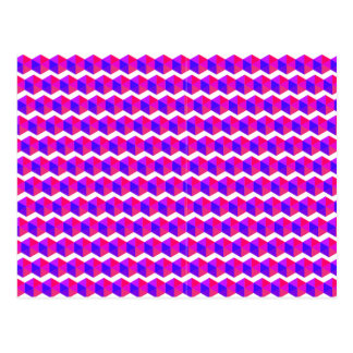 Pink Pixels Pattern Postcard