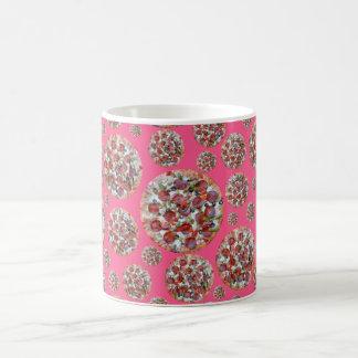 Pink pizza pie mug