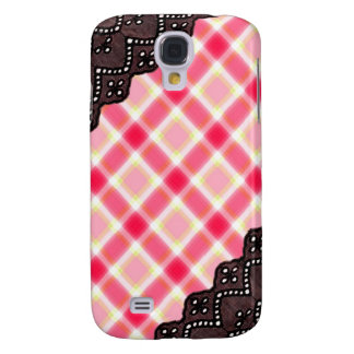 Pink Plaid and Lace - Girly iPhone Cases Galaxy S4 Case