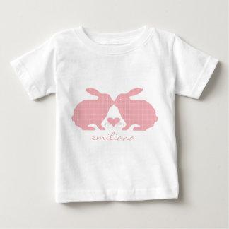 Pink Plaid Bunnies T-Shirt