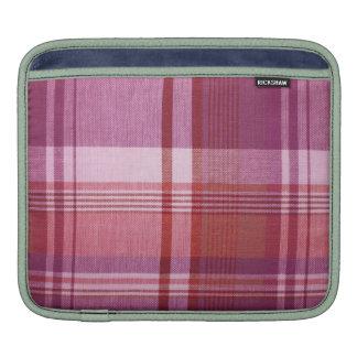 Pink Plaid iPad Sleeve