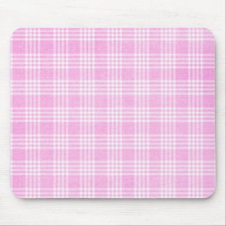 Pink Plaid Mousepad