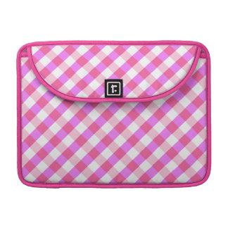 Pink Plaid Pattern custom MacBook sleeve MacBook Pro Sleeves