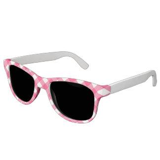 Pink Plaid Print Sunglasses