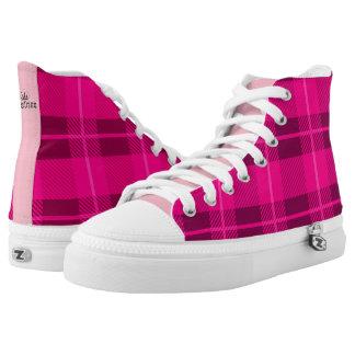 Pink Plaid Printed Shoes