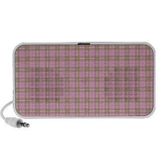 Pink Plaid Travelling Speaker