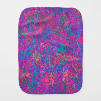 Pink Plastic Grid Abstract Burp Cloth