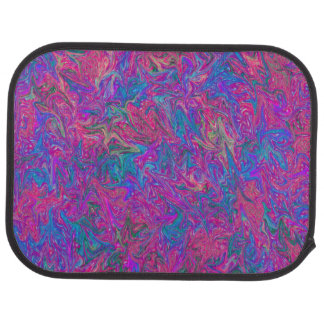 Pink Plastic Grid Abstract Car Mat