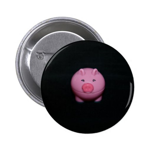 Pink Plastic Pig Button Badge