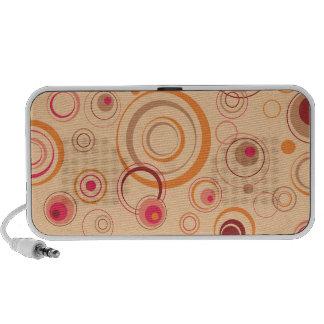 Pink Playful Retro Circles Notebook Speaker