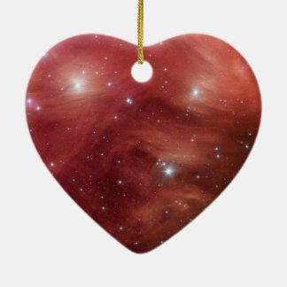 Pink Pleiades Ceramic Heart Decoration