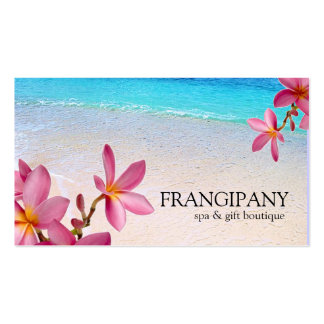 Pink Plumeria Beach Spa Resort Boutique B&B Pack Of Standard Business Cards