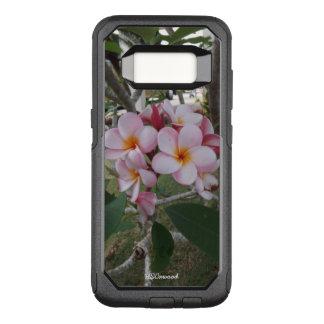 Pink Plumeria OtterBox Commuter Samsung Galaxy S8 Case