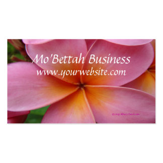 Pink Plumeria Tropical Flower Custom BusinessCards Business Card Templates