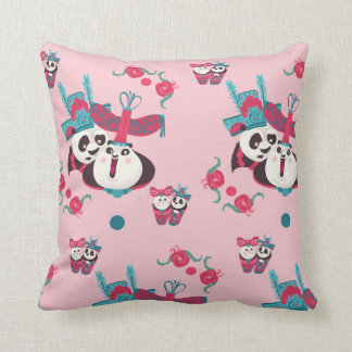 Pink Po and Mei Mei Pattern Cushion