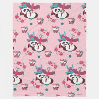 Pink Po and Mei Mei Pattern Fleece Blanket