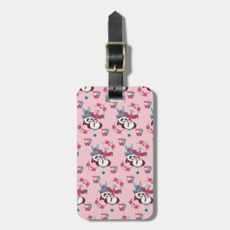 Pink Po and Mei Mei Pattern Luggage Tag
