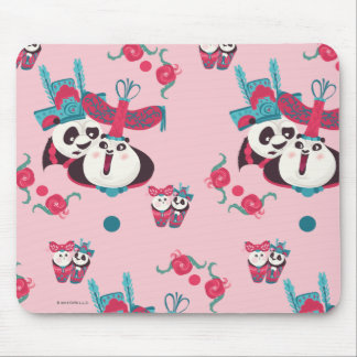 Pink Po and Mei Mei Pattern Mouse Mat
