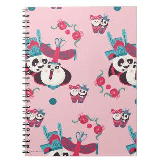 Pink Po and Mei Mei Pattern Notebook