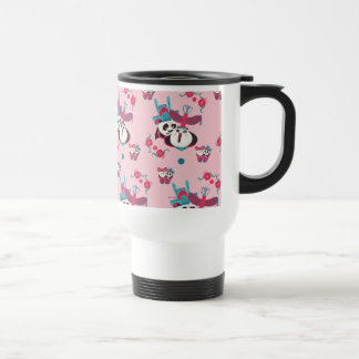 Pink Po and Mei Mei Pattern Travel Mug