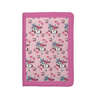 Pink Po and Mei Mei Pattern Trifold Wallets
