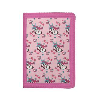 Pink Po and Mei Mei Pattern Trifold Wallets