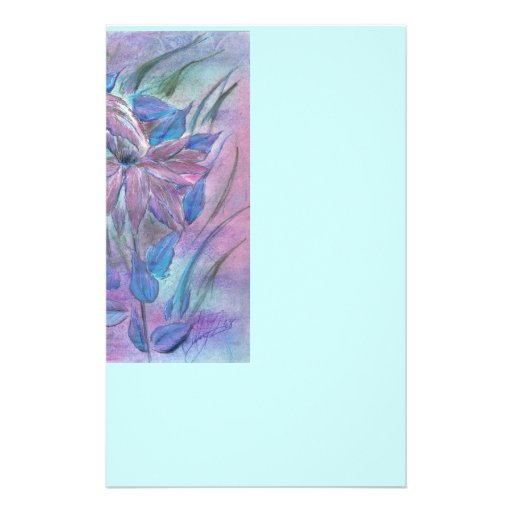Pink Poinsetta Stationery-Letterhead