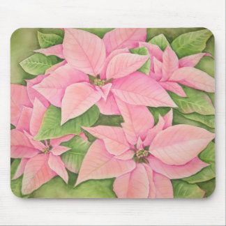 Pink Poinsettia Mousepad