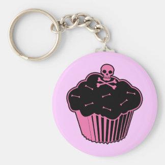 Pink Poison Cupcake Key Ring