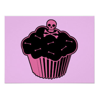 Pink Poison Cupcake Poster