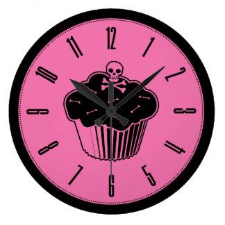 Pink Poison Cupcake Wall Clock