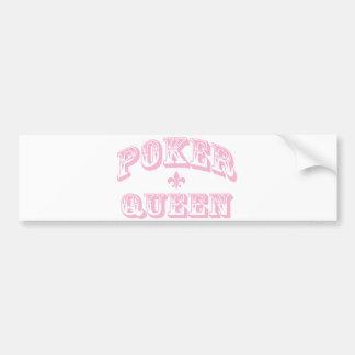 Pink Poker Queen Bumper Sticker