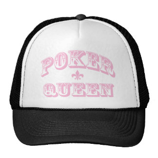 Pink Poker Queen Mesh Hats
