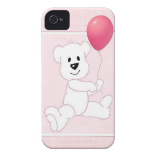 Pink Polar Bear Cub iPhone 4 Barely There Case Case-Mate iPhone 4 Case