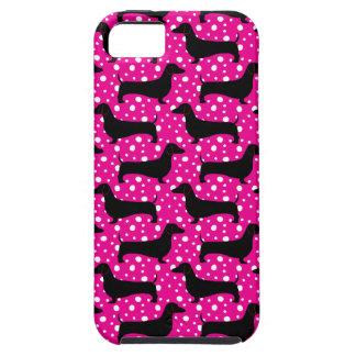 Pink Polka Dachshunds iPhone 5 Cover