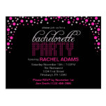 Pink Polka Dot Bachelorette Party Postcard Invite