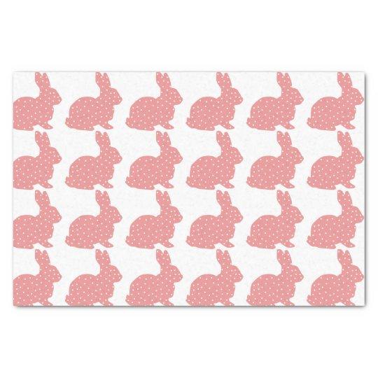 Pink Polka Dot Bunnies Tissue Paper
